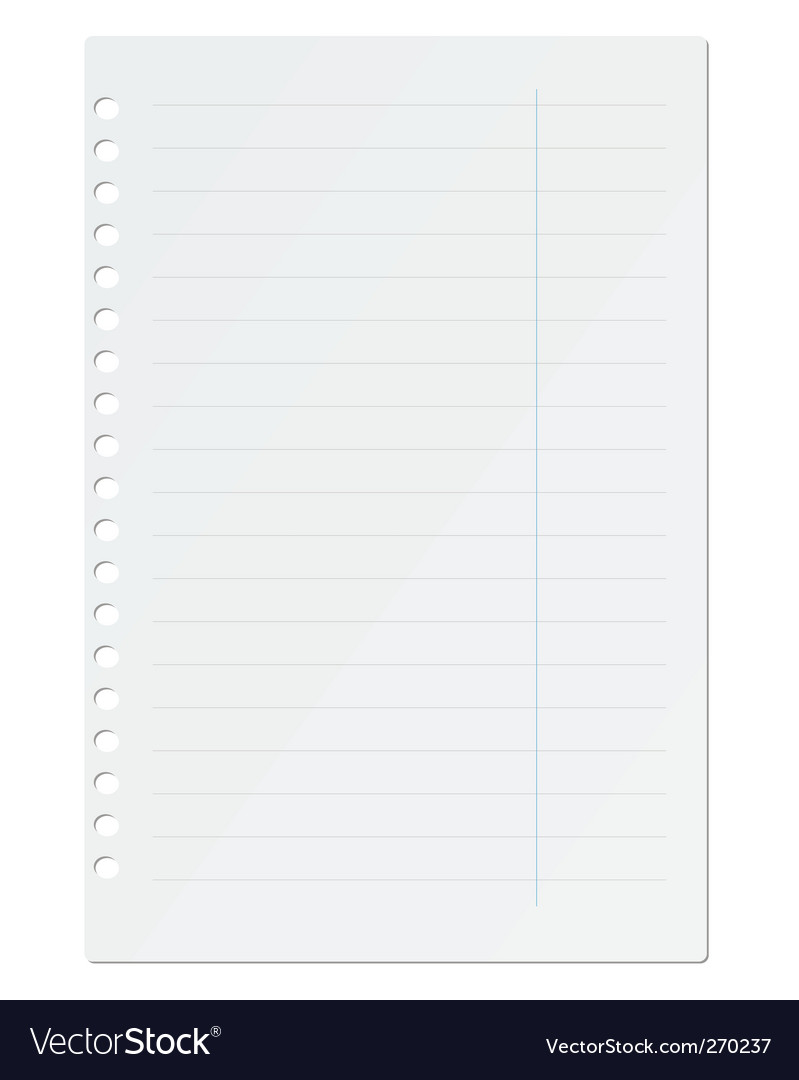 Paper sheet vector by cherkas - Image #270237 - VectorStock