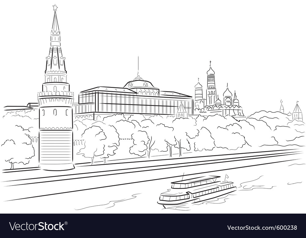Palace of moscow vector