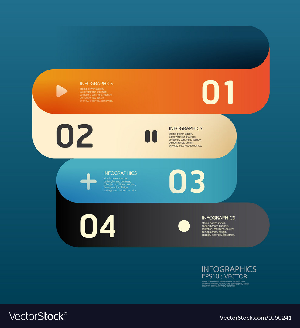 Modern curve design template vector