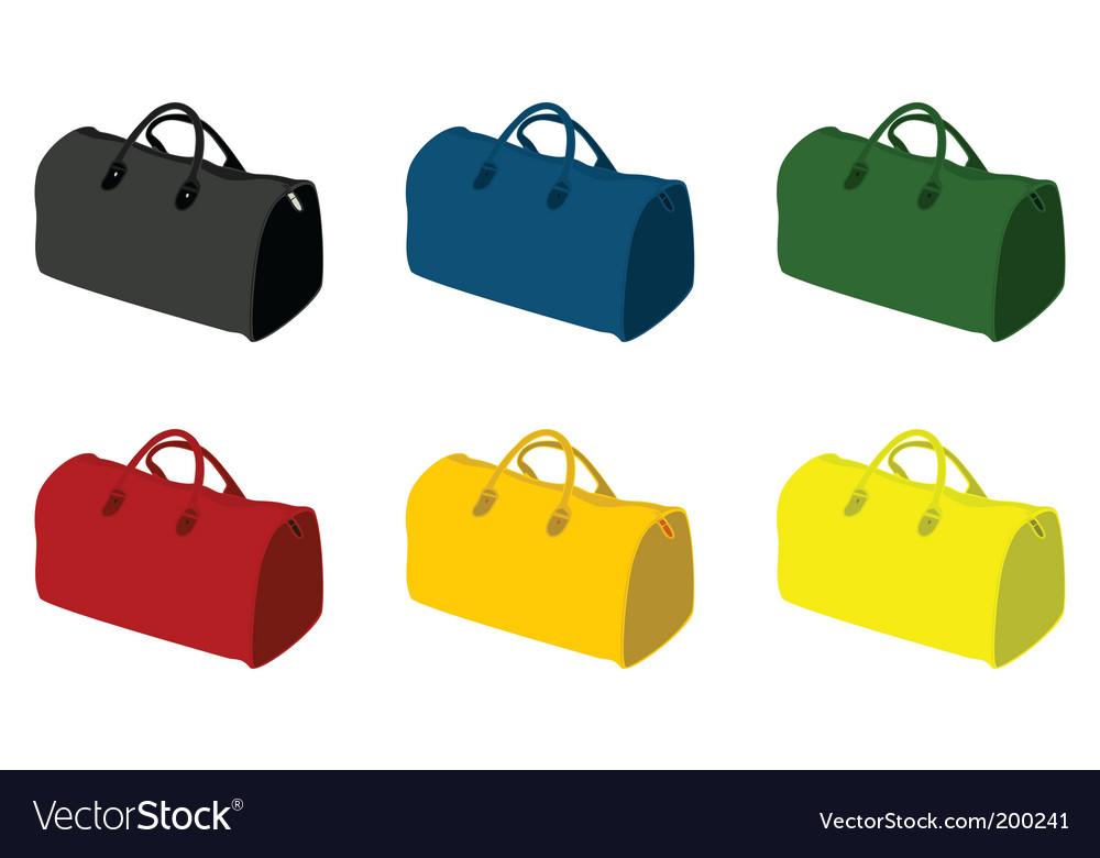 Sports bag vector
