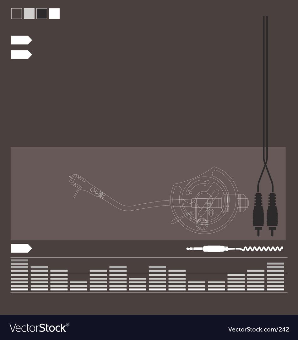 Free dj audio elements vector
