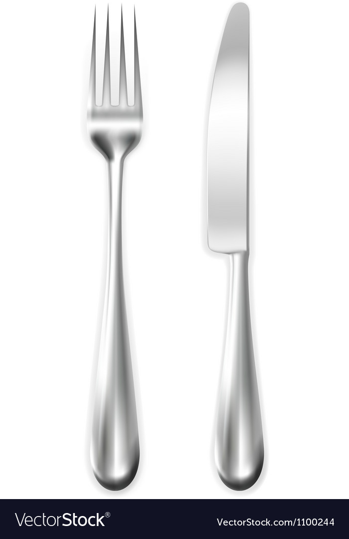 Table knife and fork vector