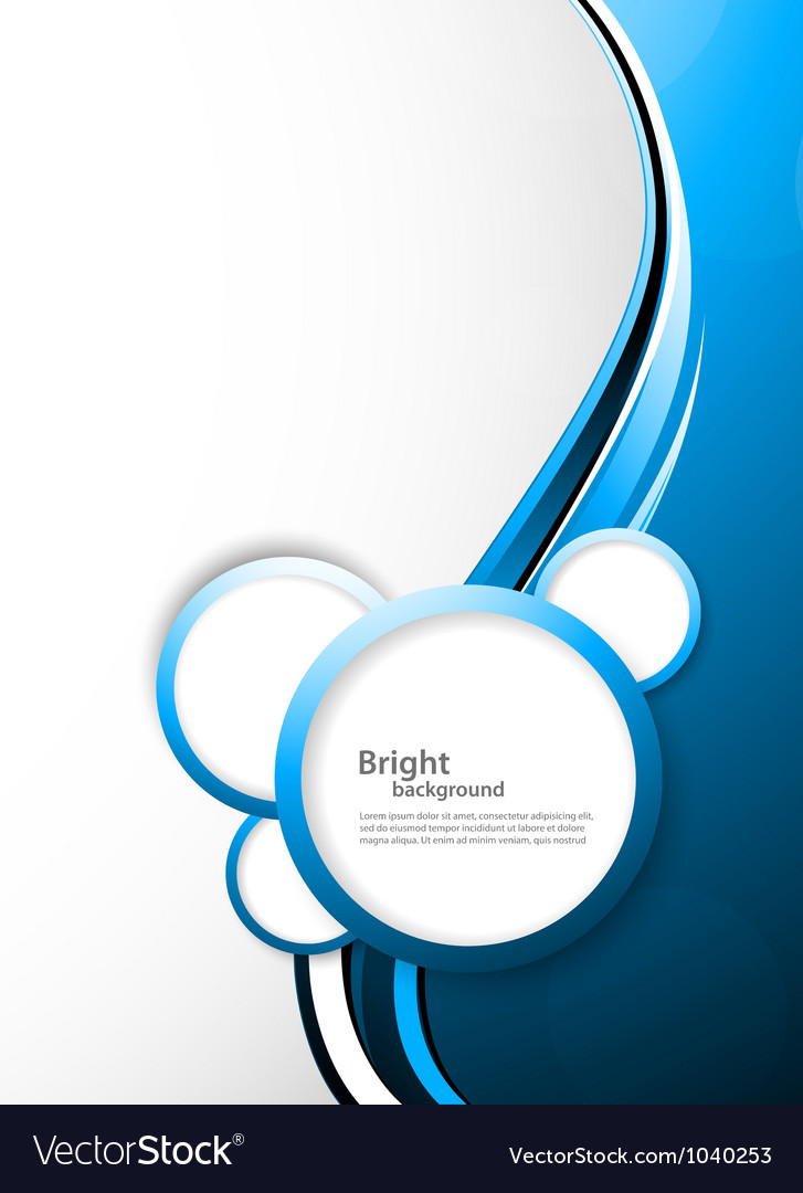 Abstract tech background with circles vector