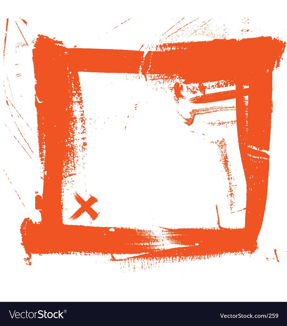 Free grunge brush strokes frame vector