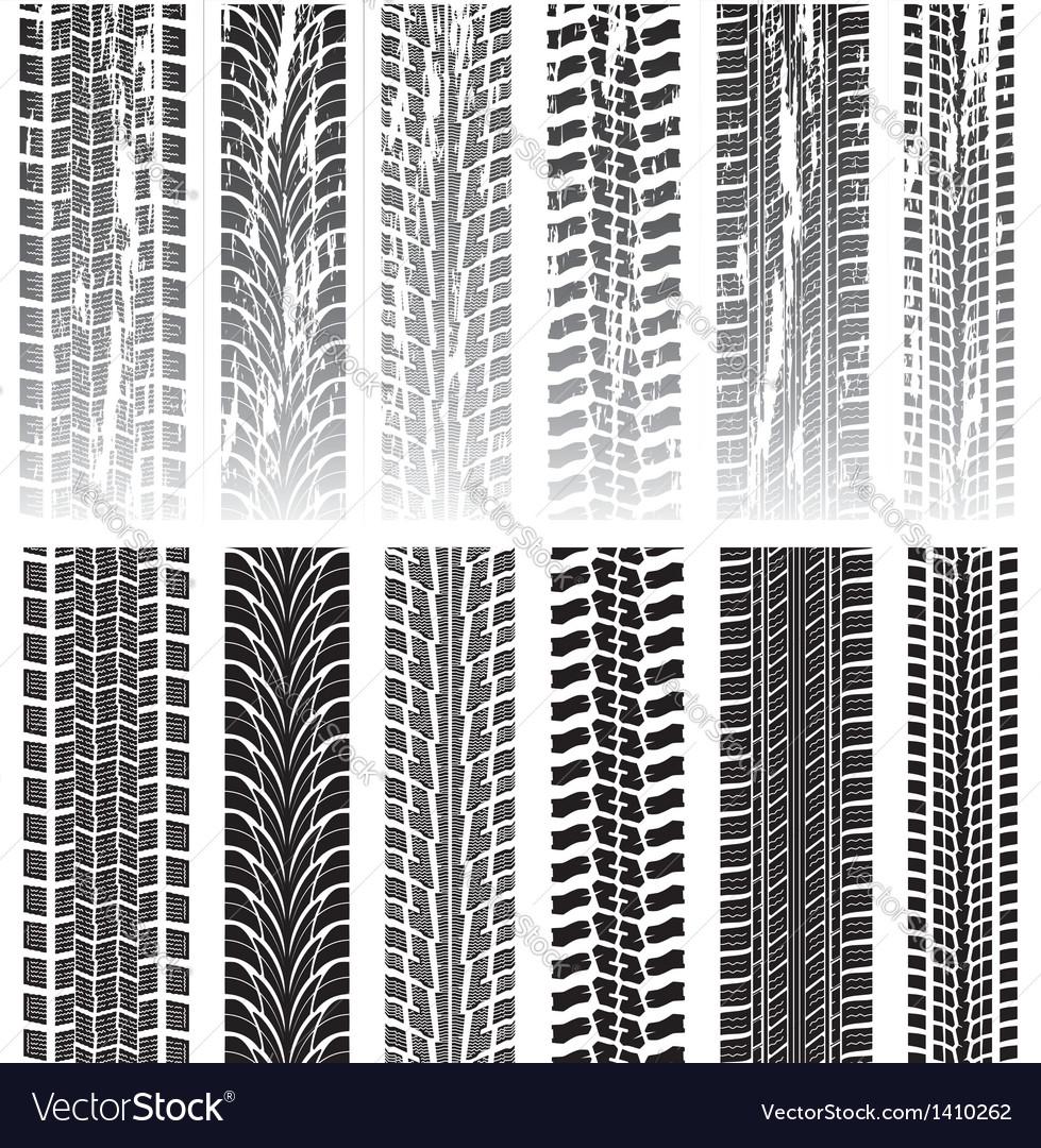Tyre prints vector