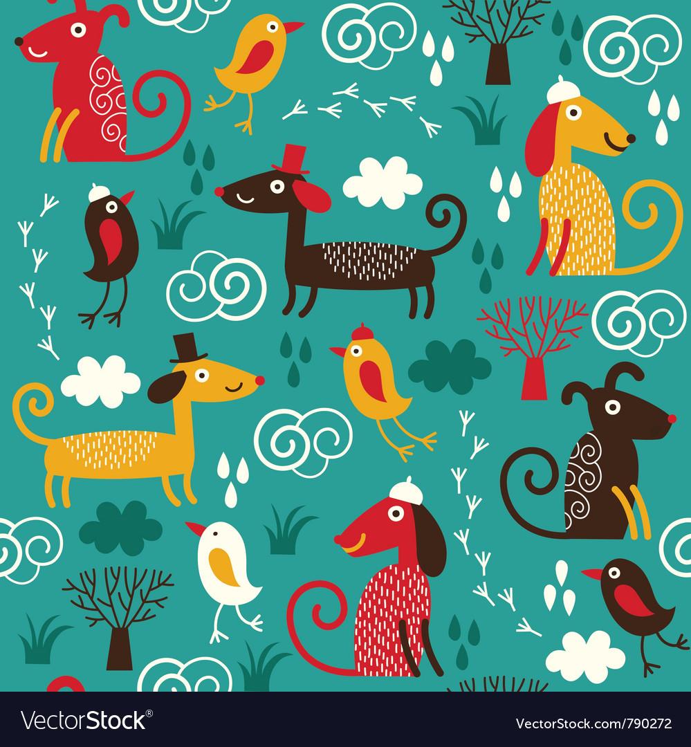 Fabric children design vector