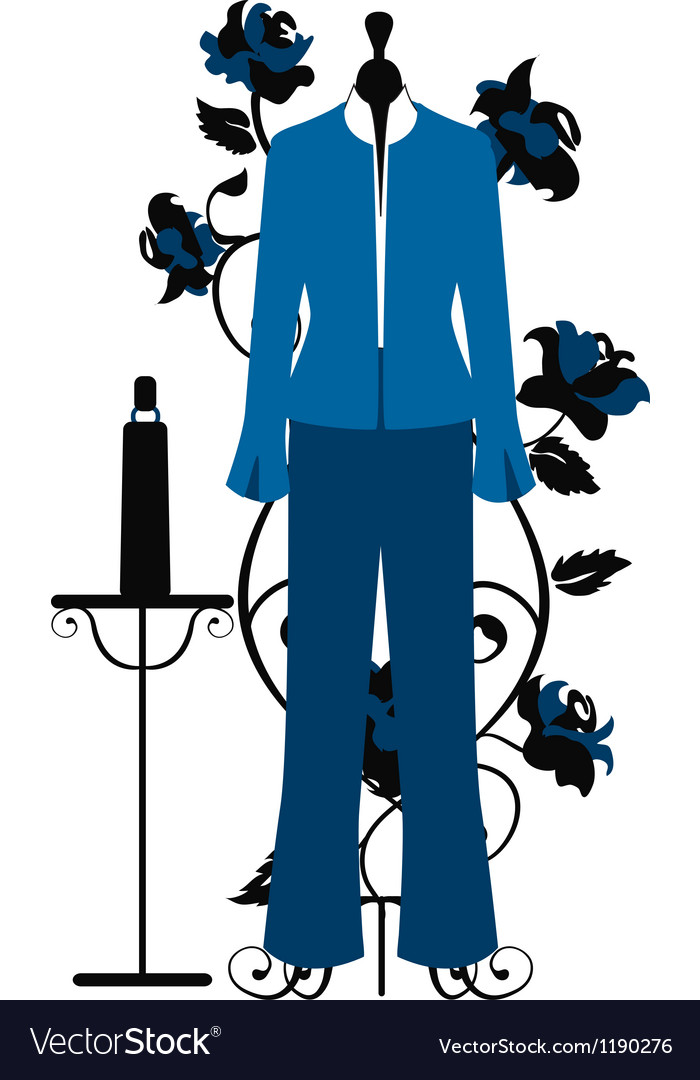 Mannequin for tailors with business costume vector