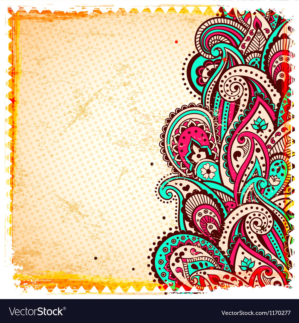 Abstract paisley background vector