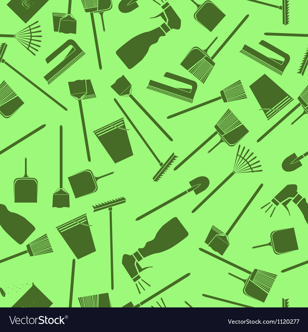 Cleaning seamless pattern vector