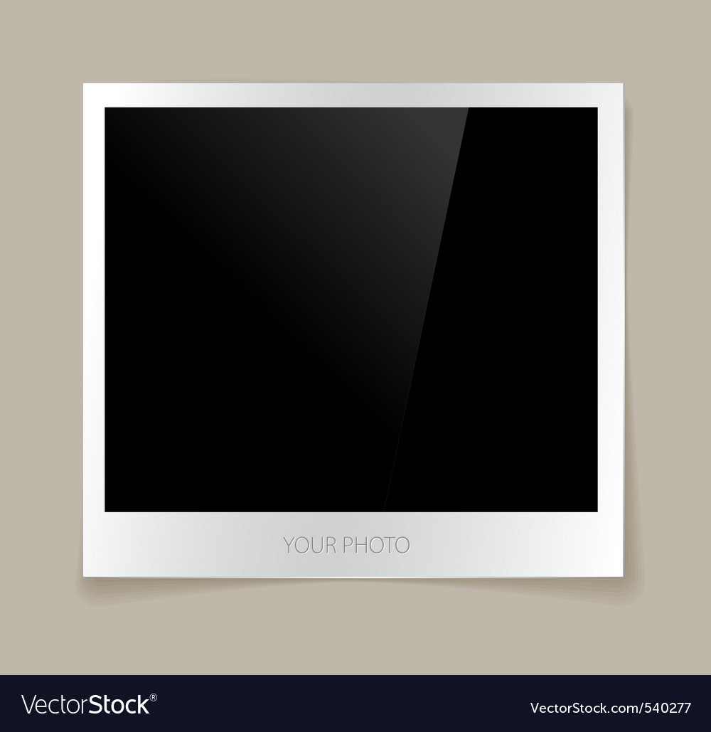 Empty photo vector