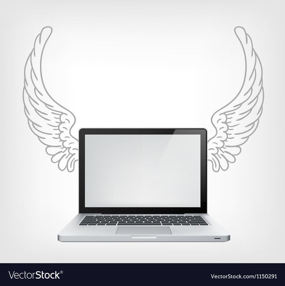 Laptop pc vector