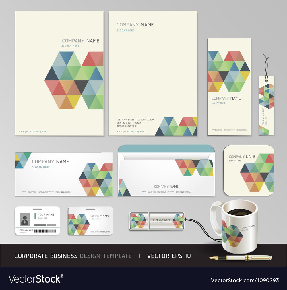 Corporate identity business set design vector