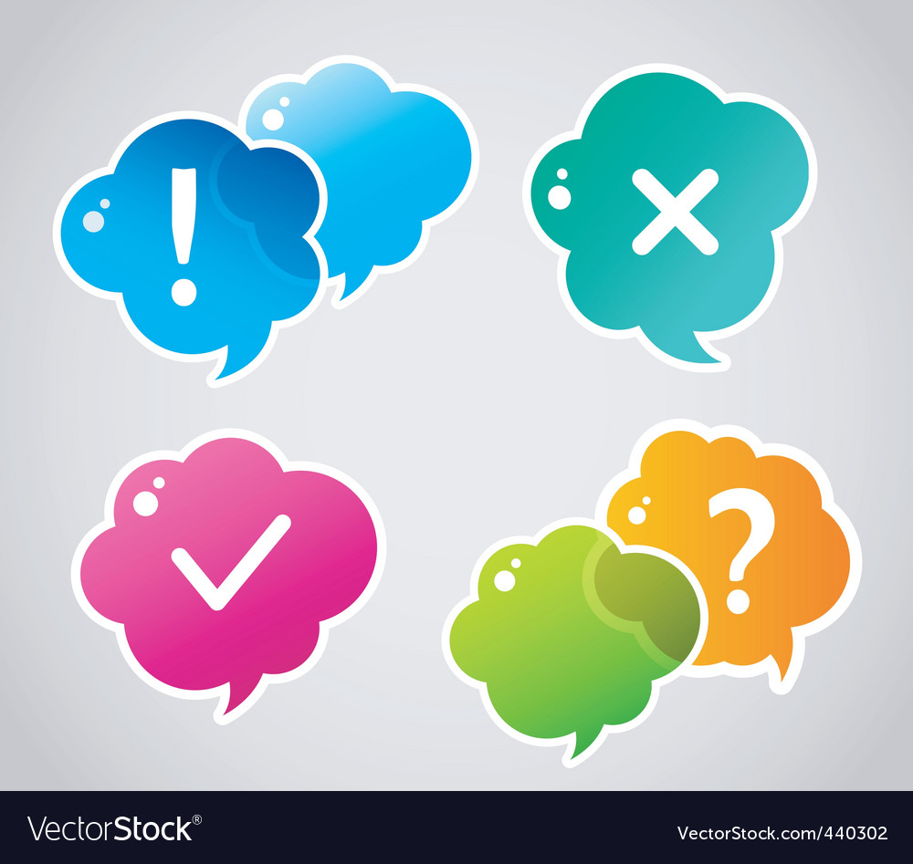Speech bubble colorful set vector