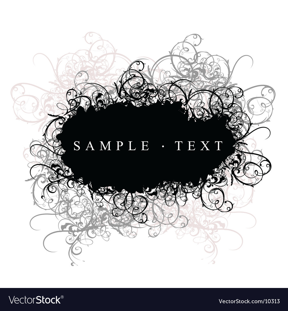 Decorative banner vector