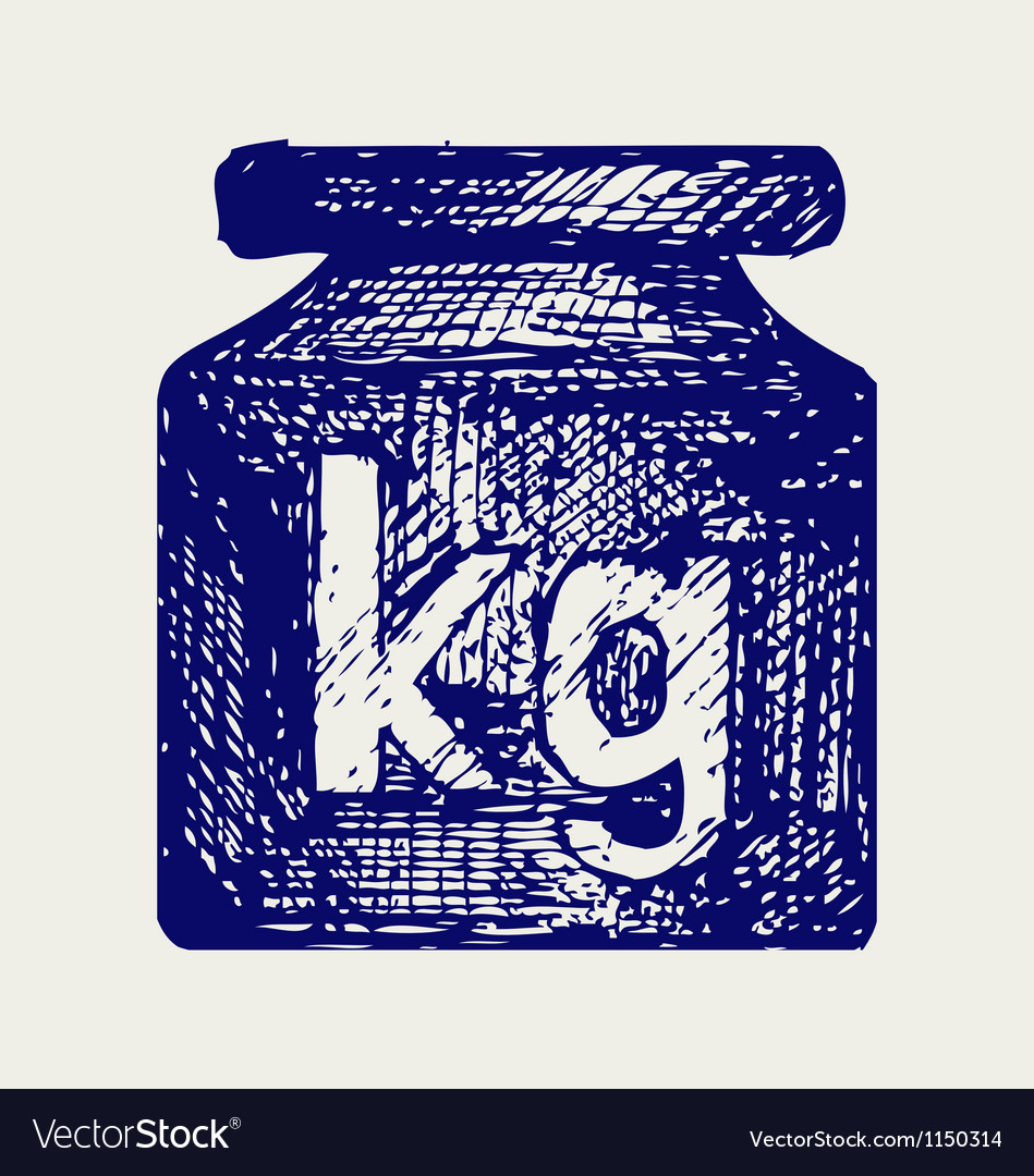 Weight kilogram vector