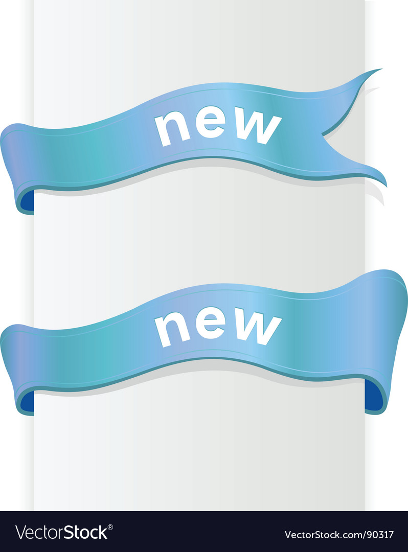 Ribbon with text vector