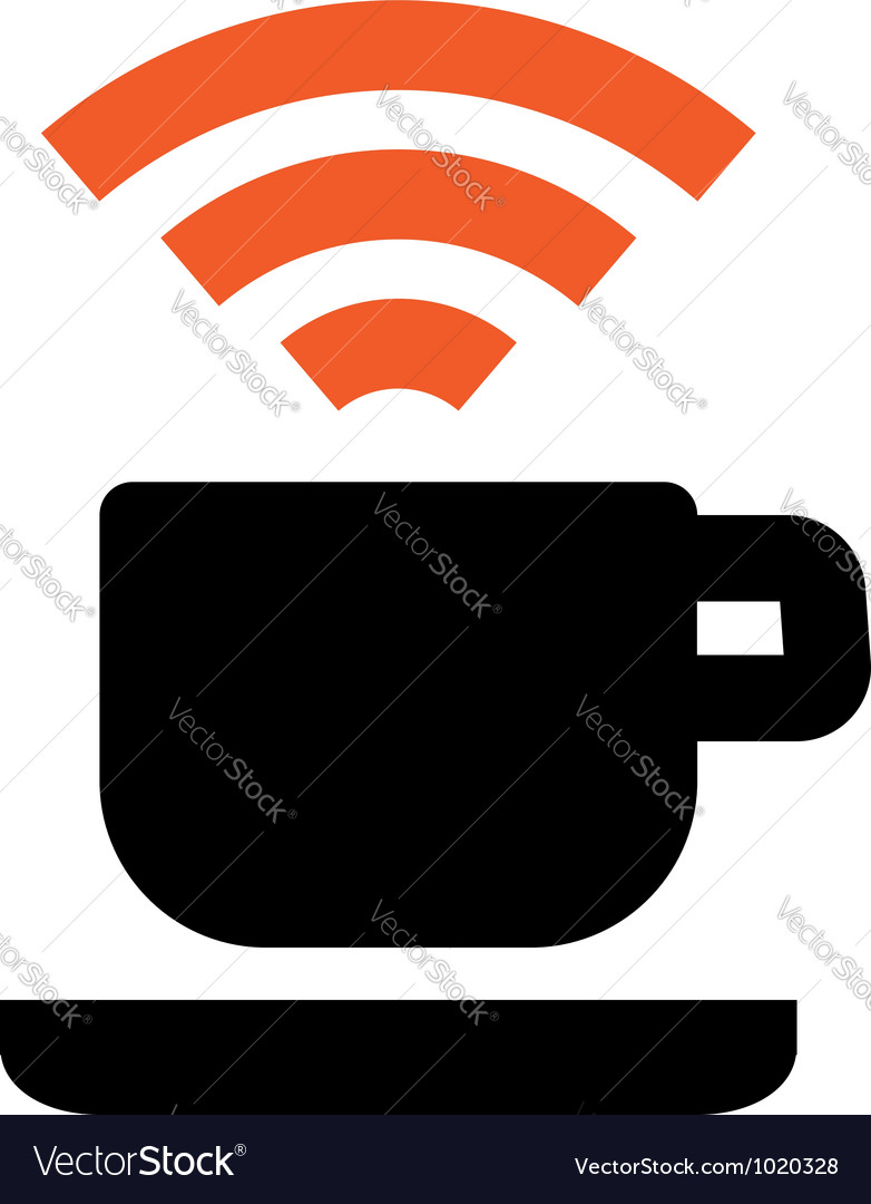 Free wi-fi coffee house area vector