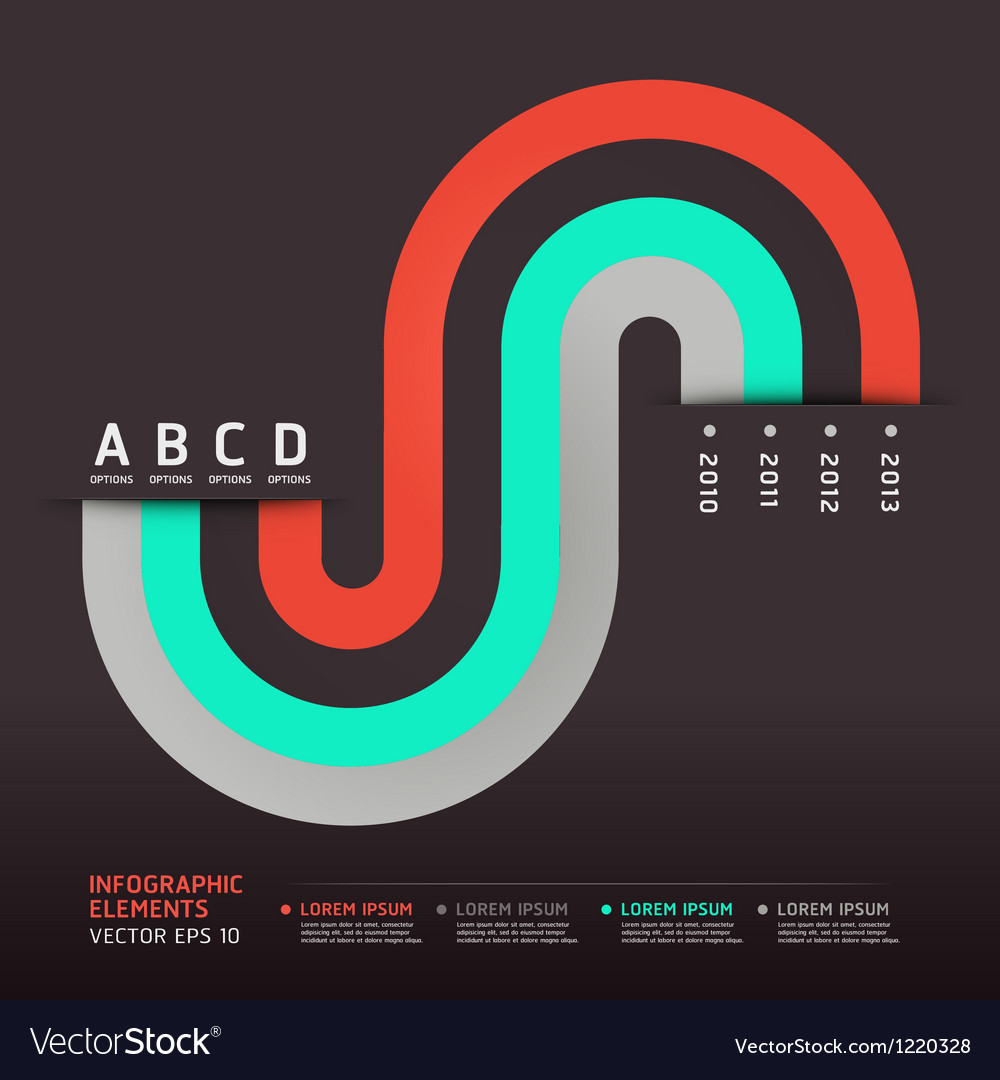 Modern infographics circle element vector
