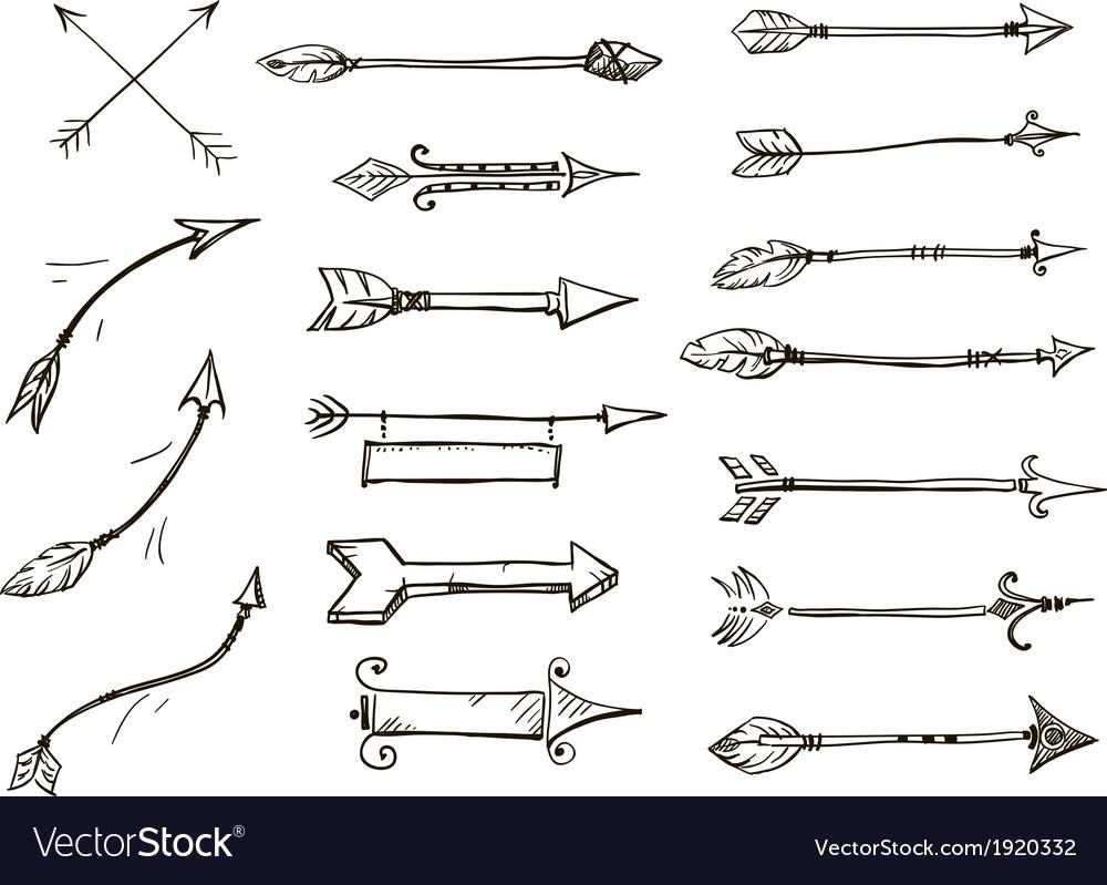arrows tribal style vector Indian Arrow Vector