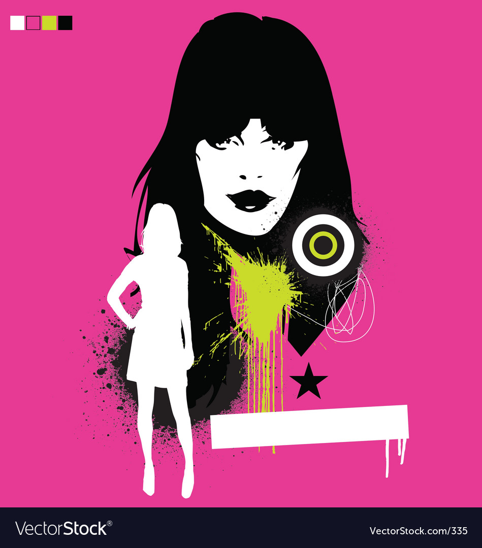 Free model pop grunge illustration vector