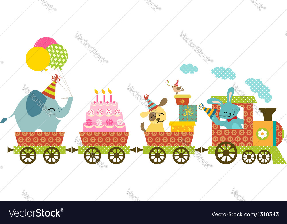 Happy train vector