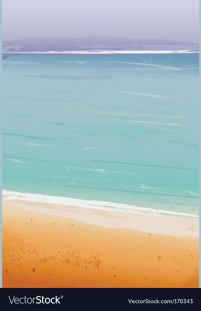 Summertime at the beach sea vector