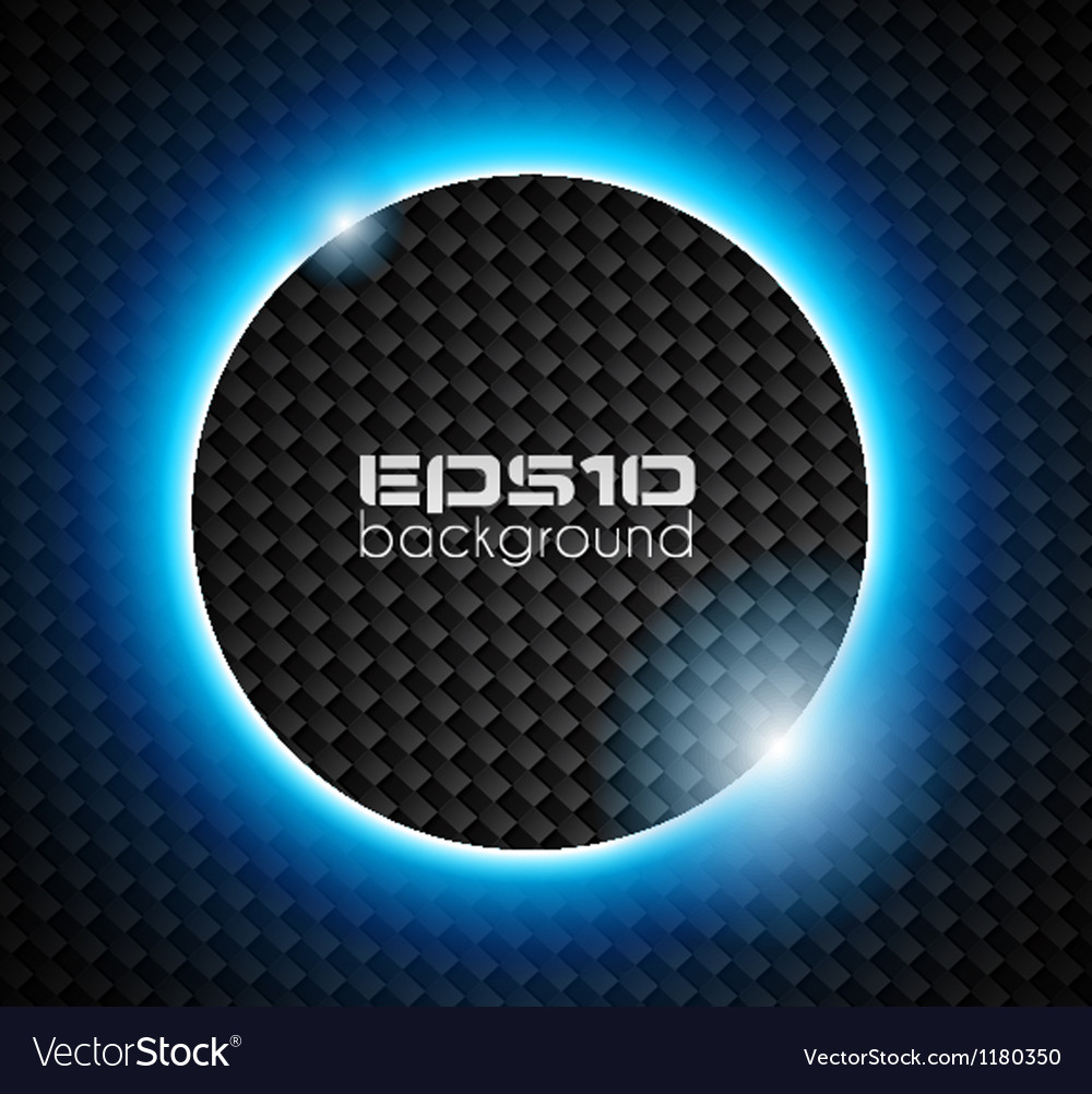 Light sphere over carbon look backgroud vector