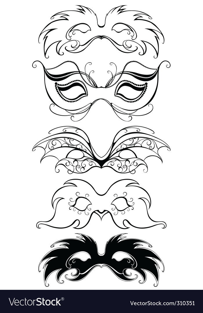 Carnival masks vector