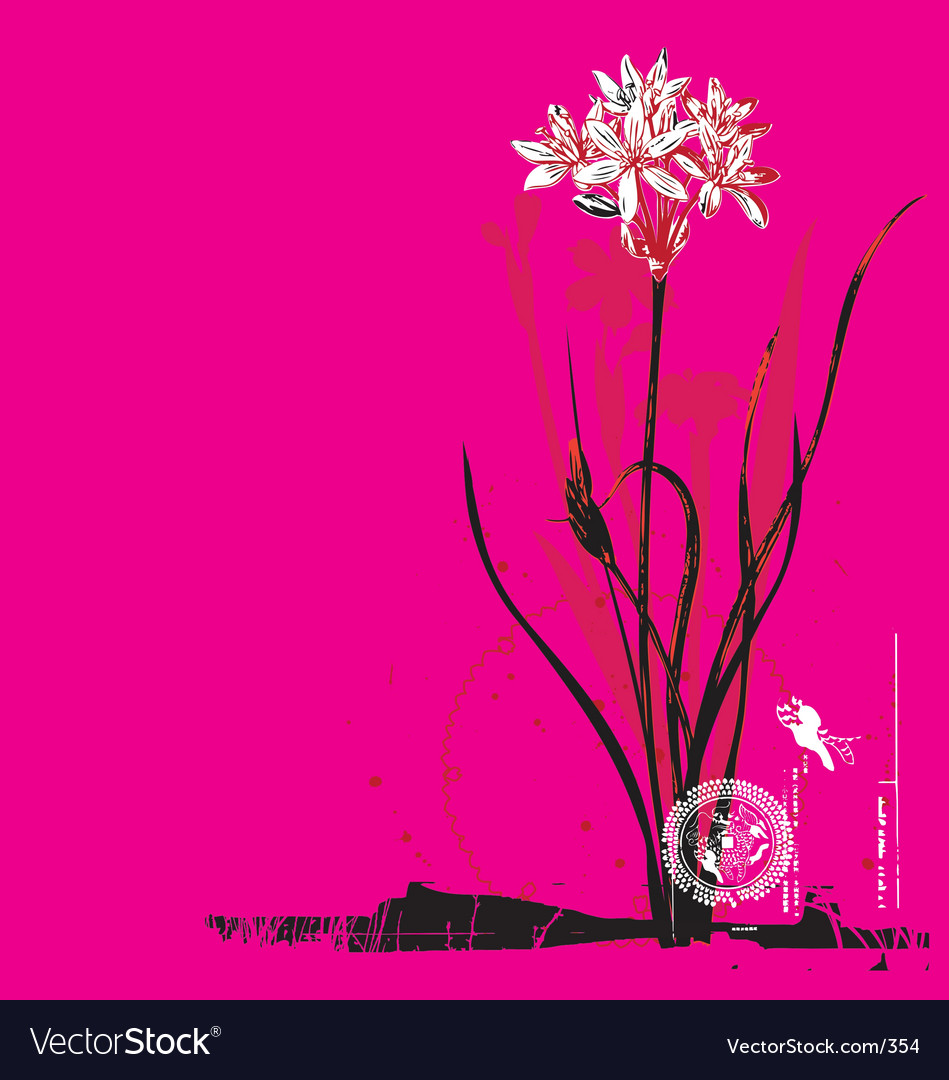 Free oriental flower vector