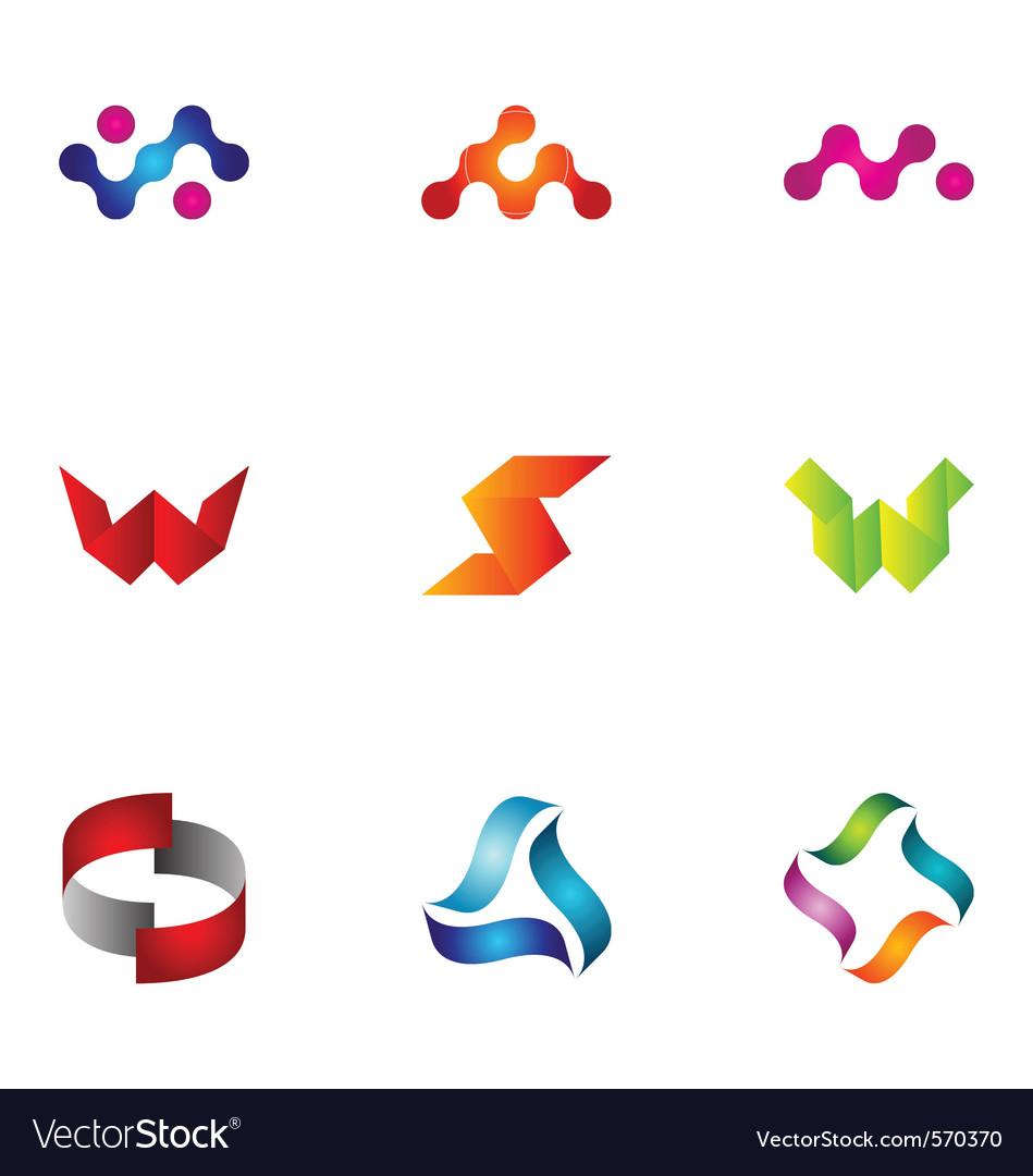 Logo design elements set 44 vector