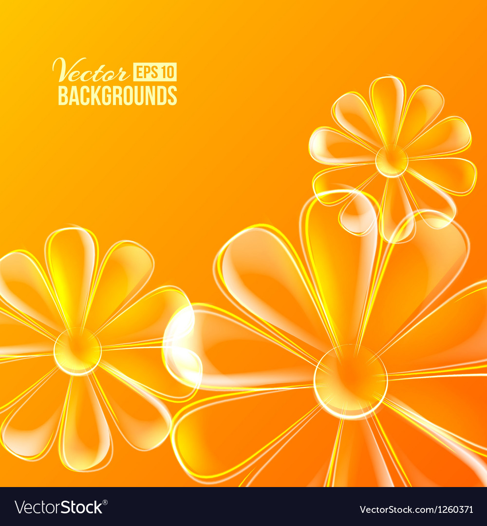 Abstract colorful glass flower vector