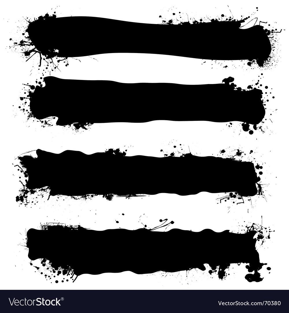 Ink banner vector
