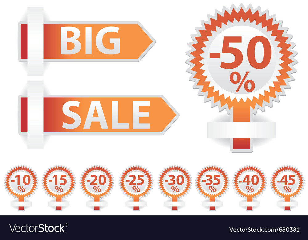 Free sale stickers vector