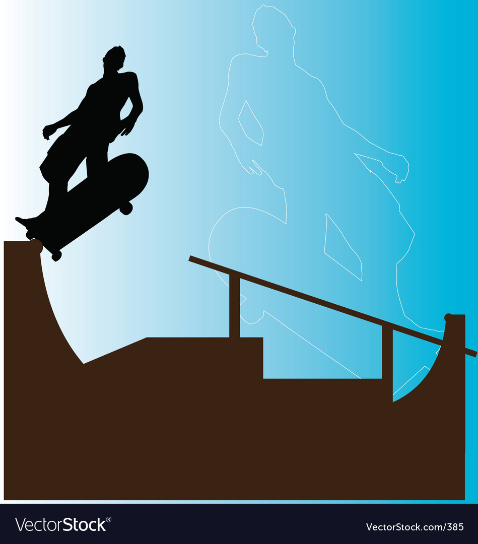 Free skater backside grind vector