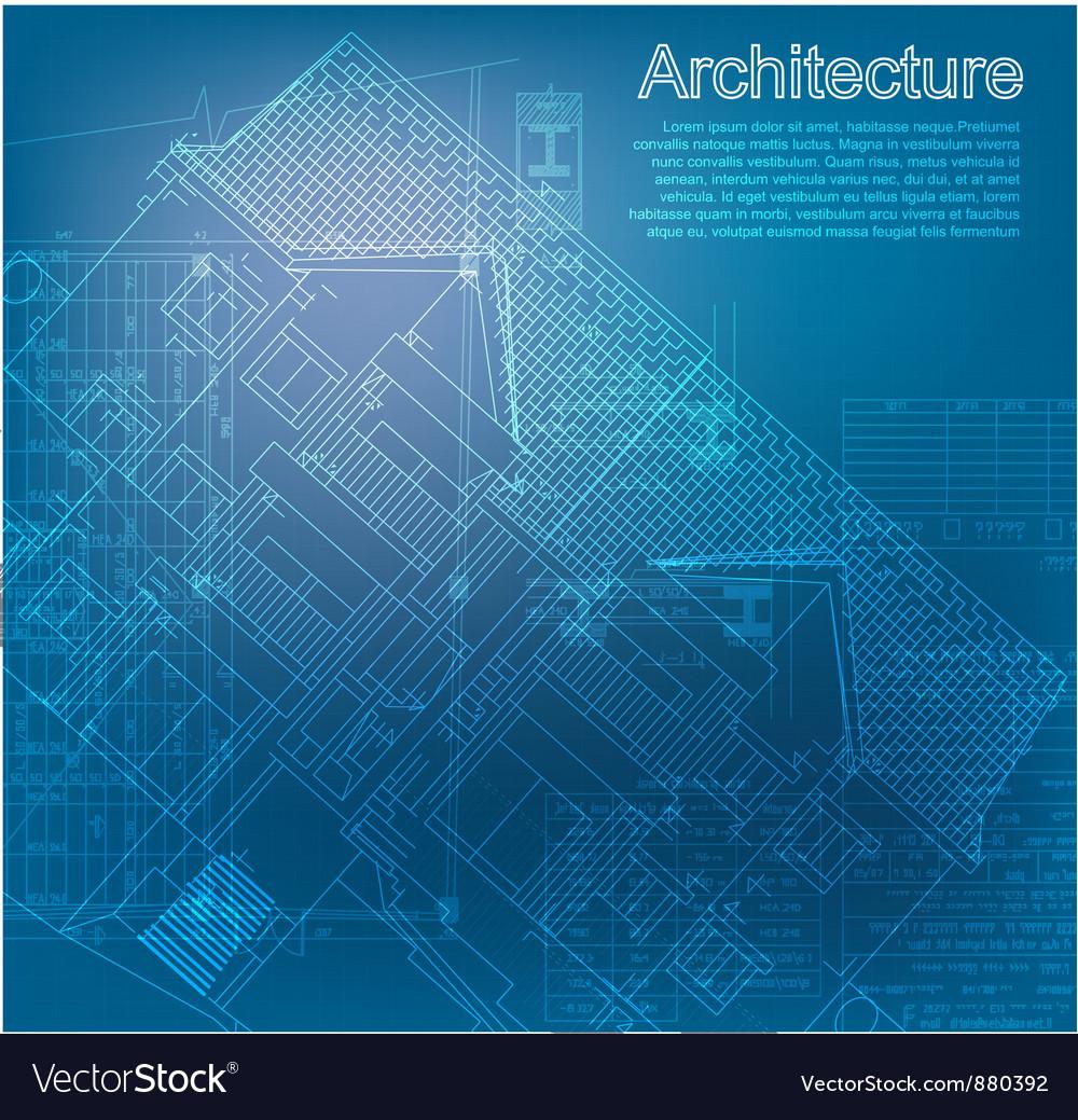 Urban blueprint vector