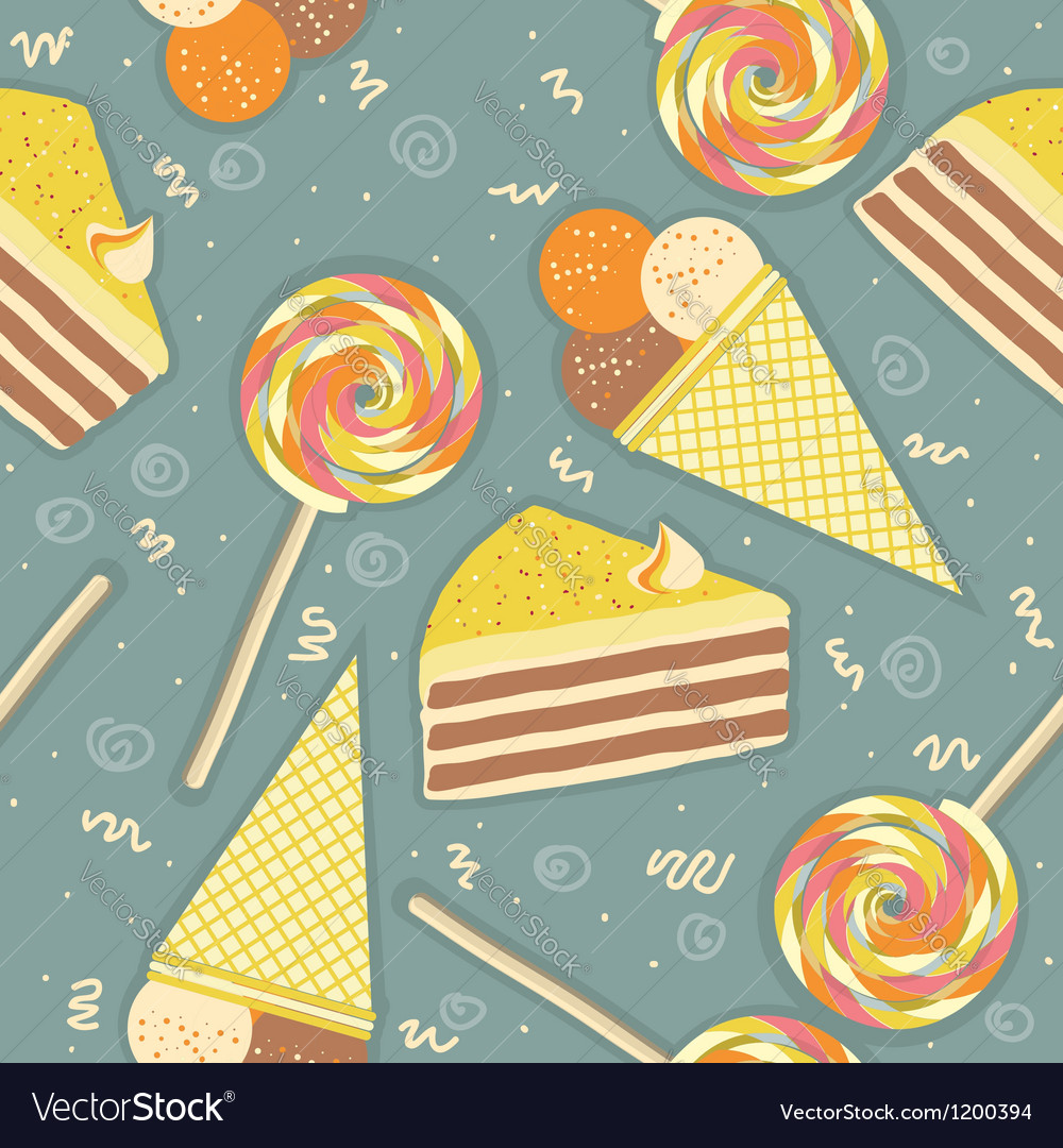 Candies seamless pattern sweets color background vector