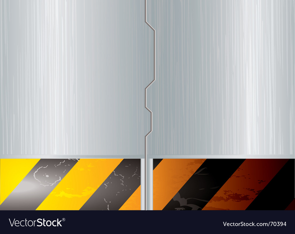 Metal space door vector