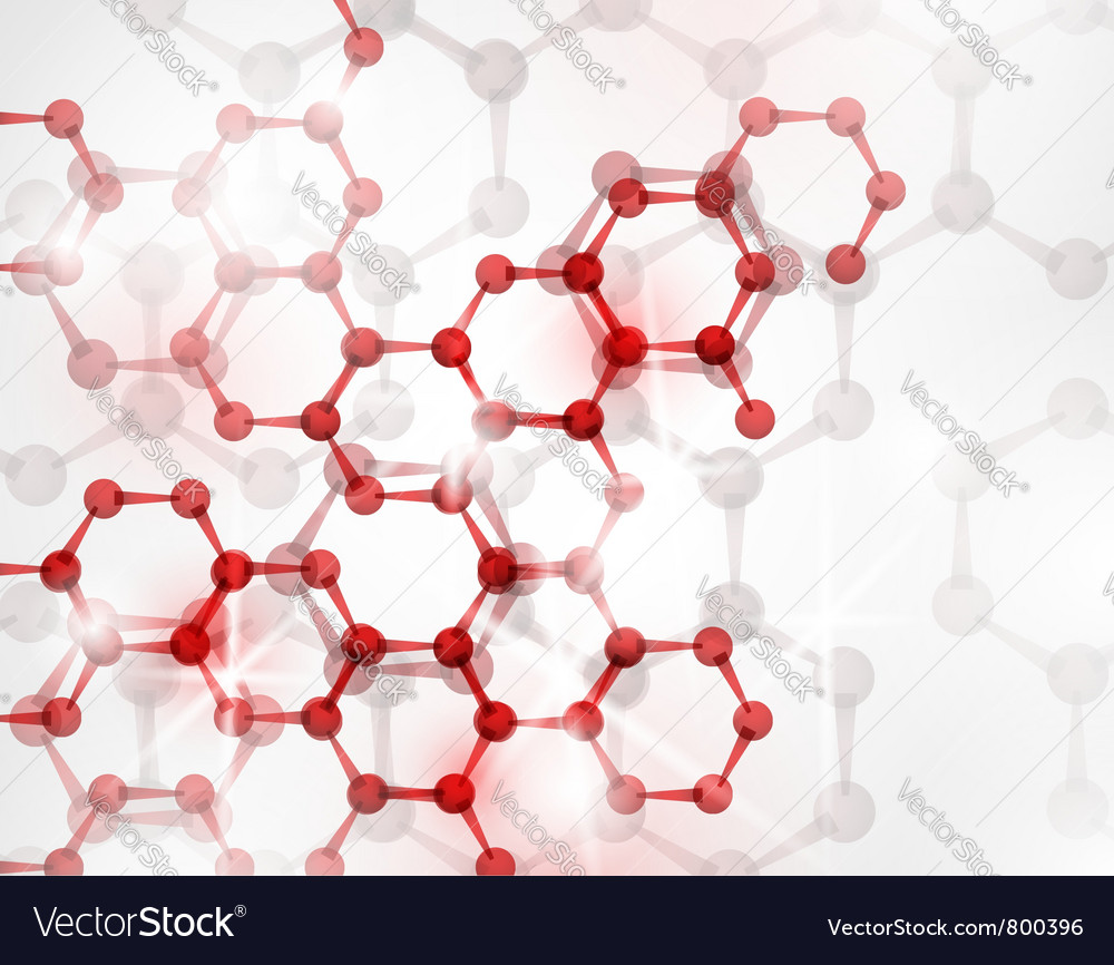 Abstract molecular structure vector