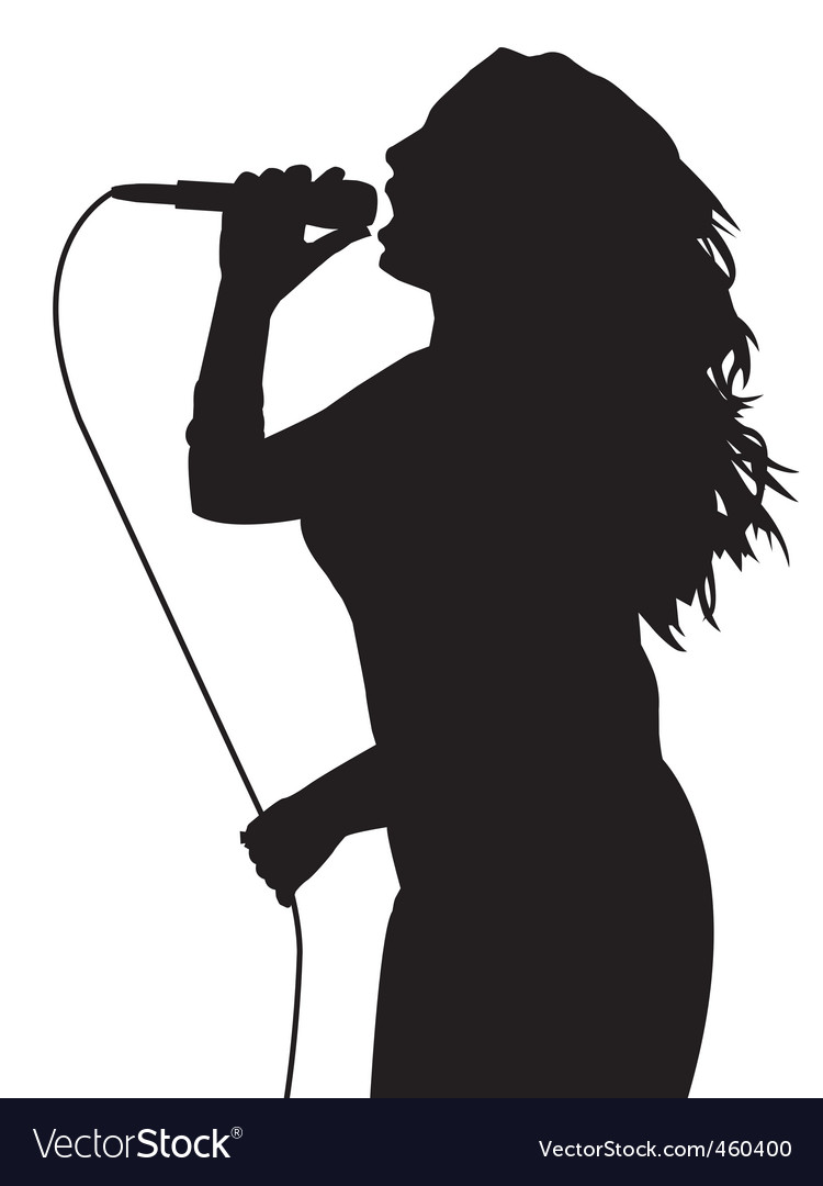Female singing vector