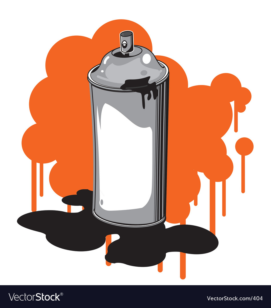 Free spray can vector