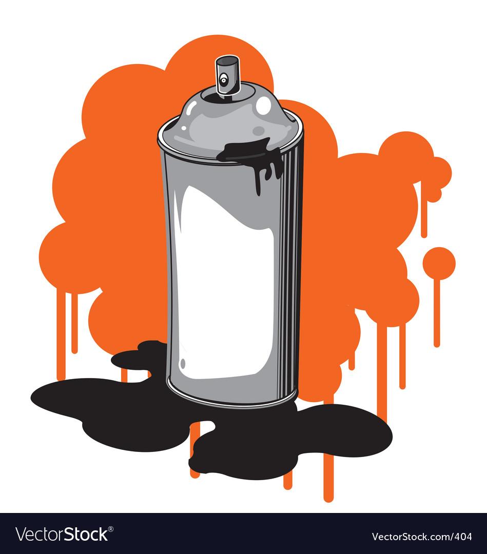 Free spray can vector