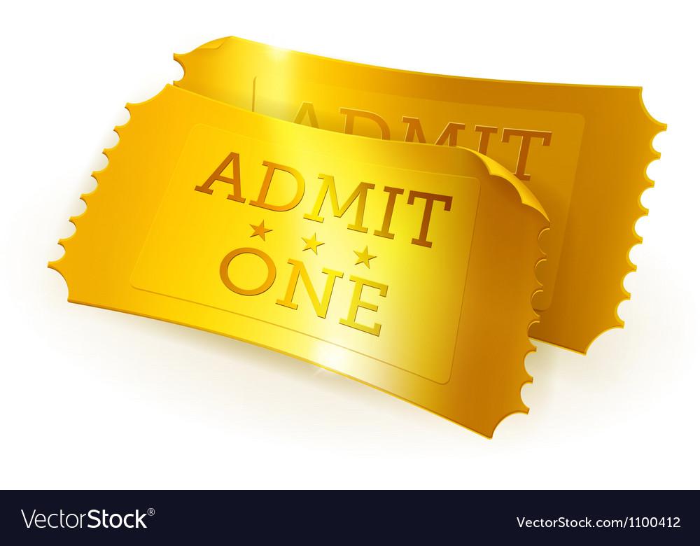 Golden tickets vector