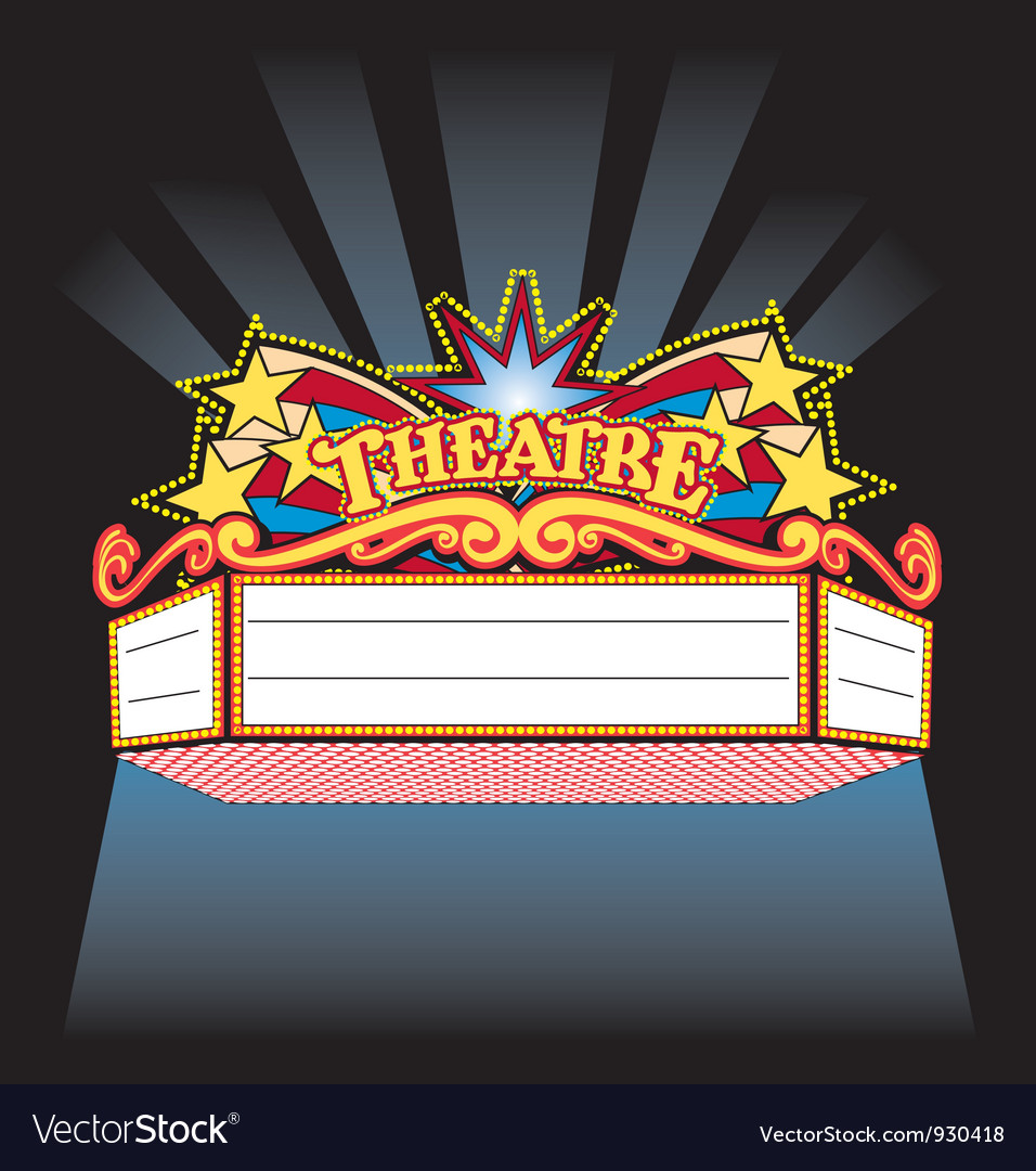 Broadway Marquee Template Theatre marquee vector