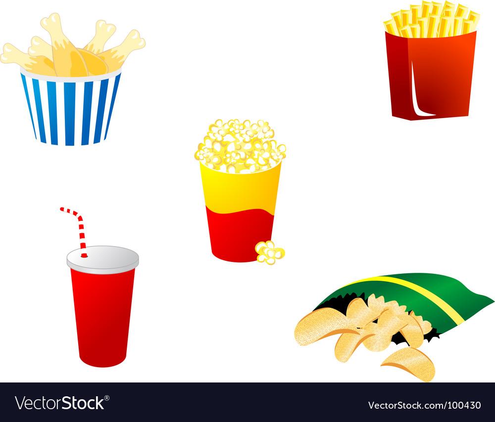 Free fast food symbols vector