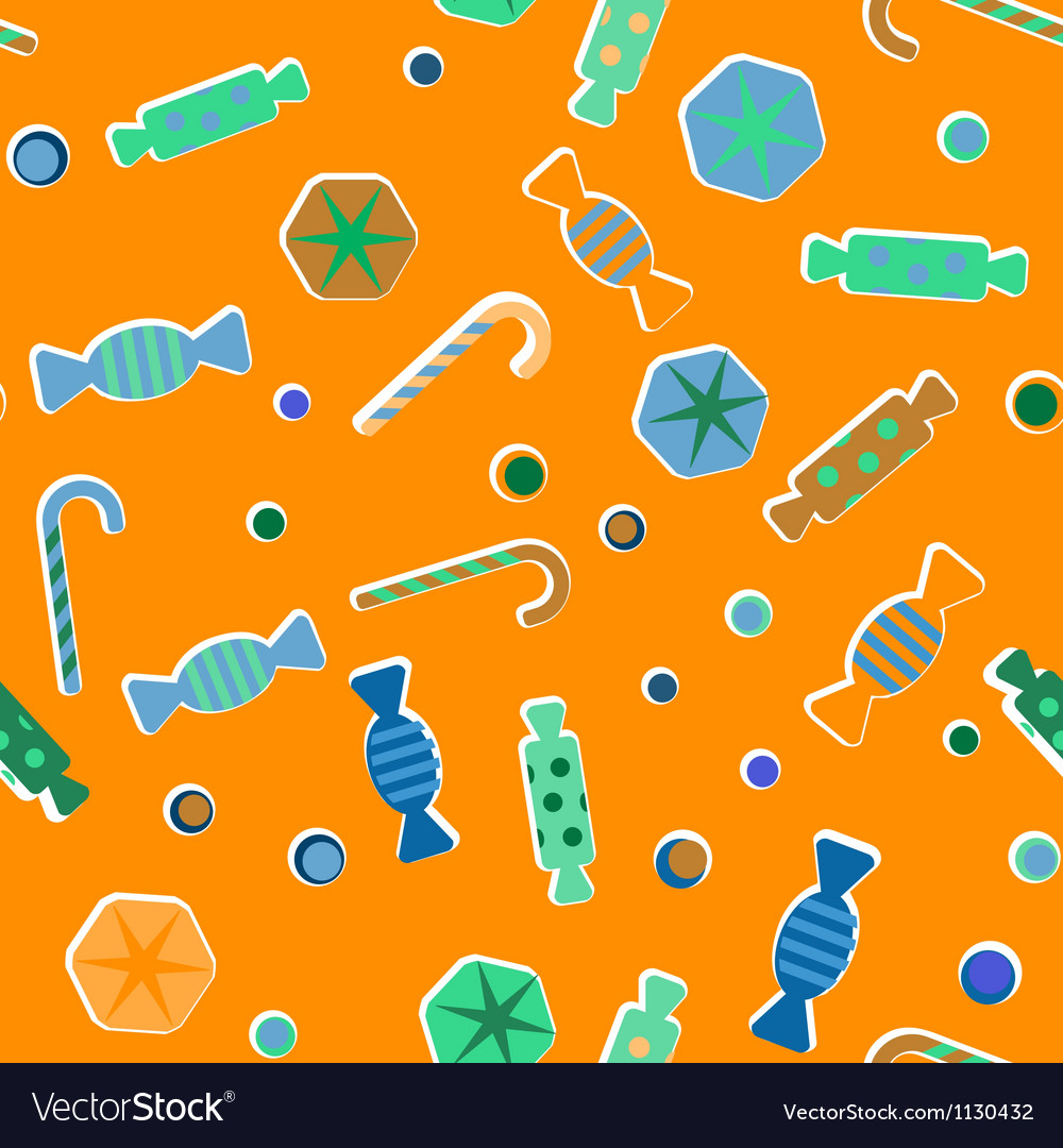 Sweets candies pattern vector