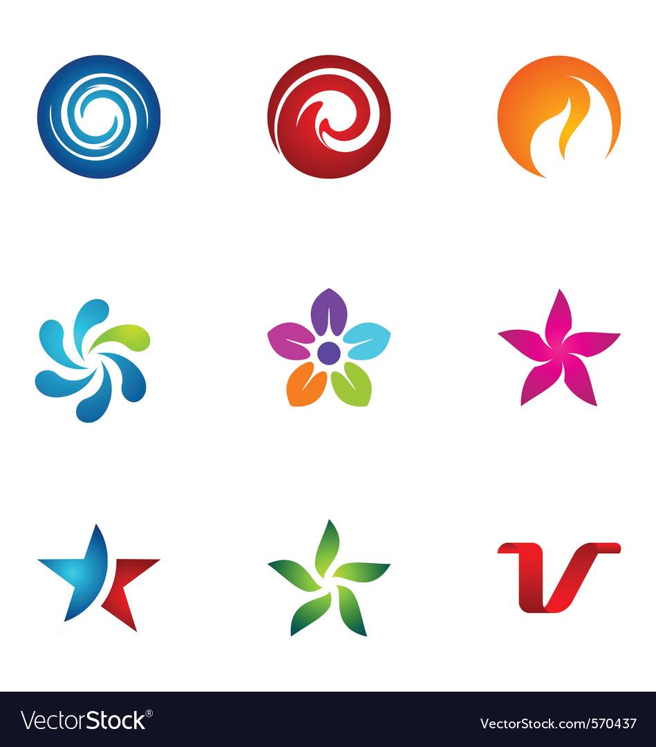 Logo design elements set 74 vector