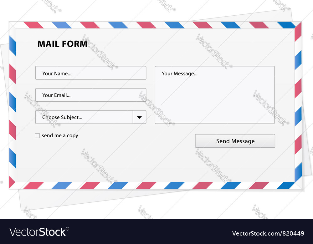 Mail form envelope vector
