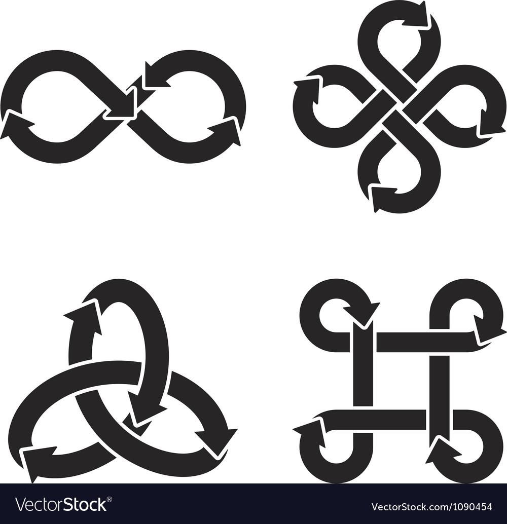 Infinity symbol icons vector