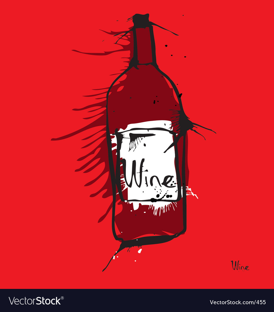 Free wine bottle vector