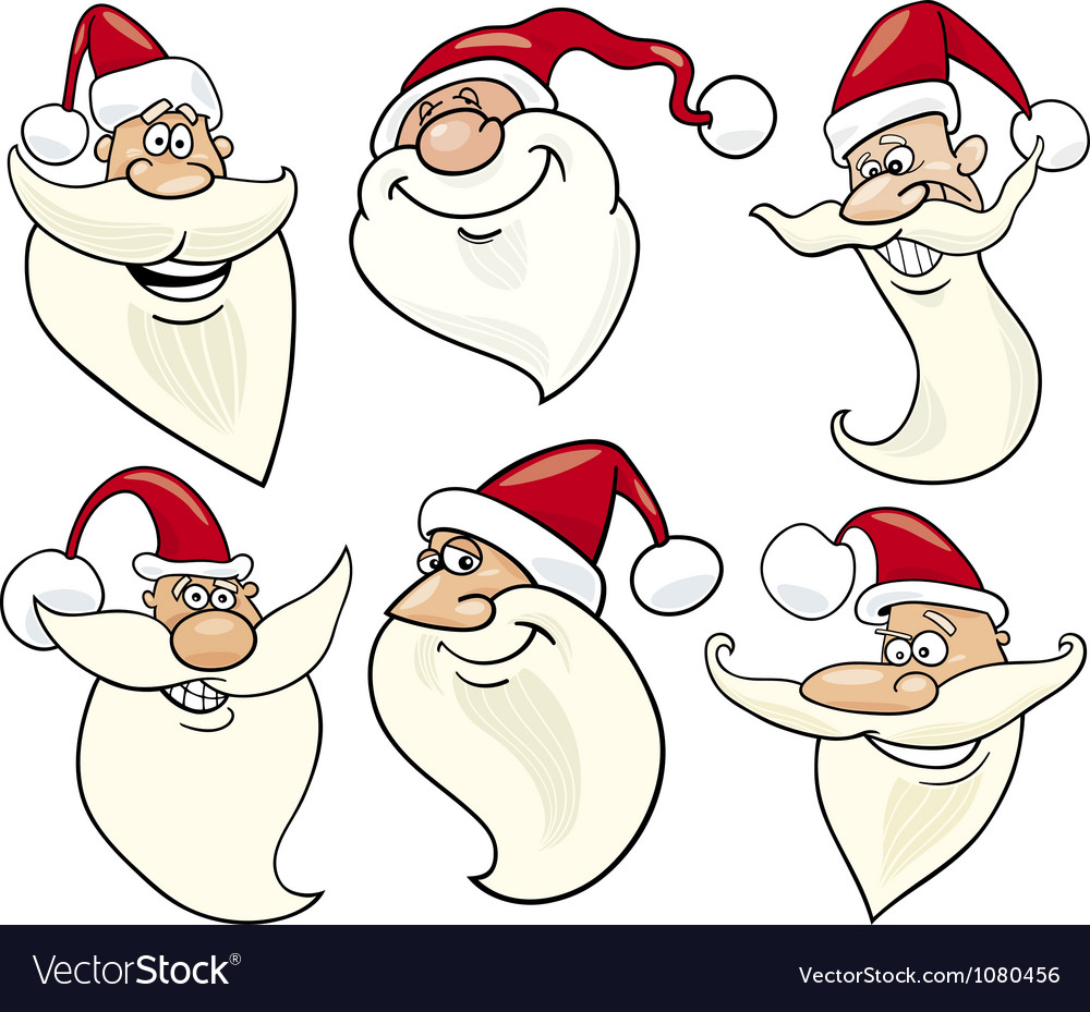 Santa Claus Template Face Bigking Keywords And Pictures
